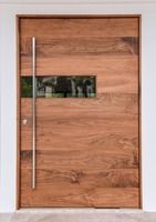 Custom Mahogany Modern Front Entry Doors, Residential Entrance Pivot Doors for Sale
