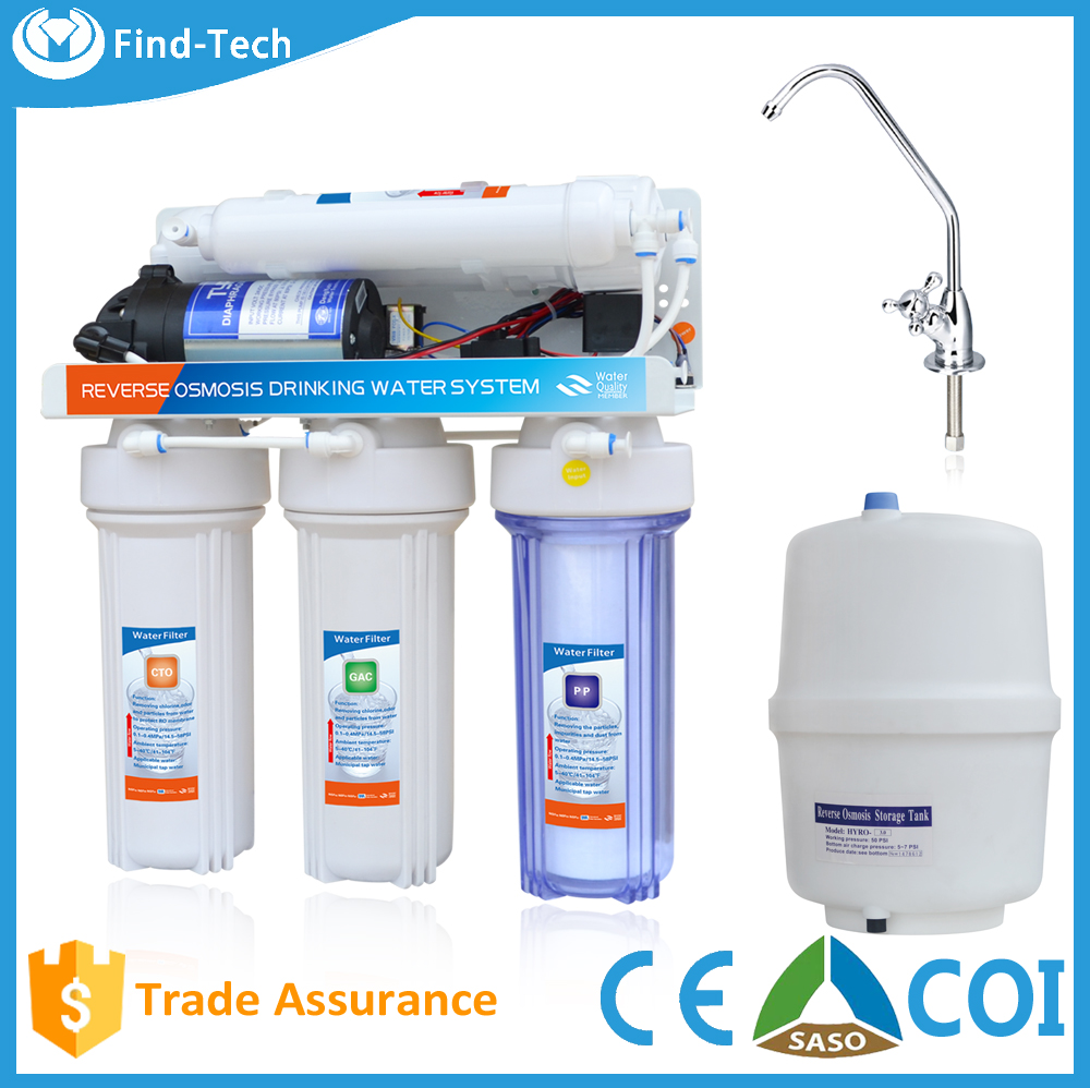 top sale 75G membrane RO 5 Stage system water purifier machine plastic RO body price