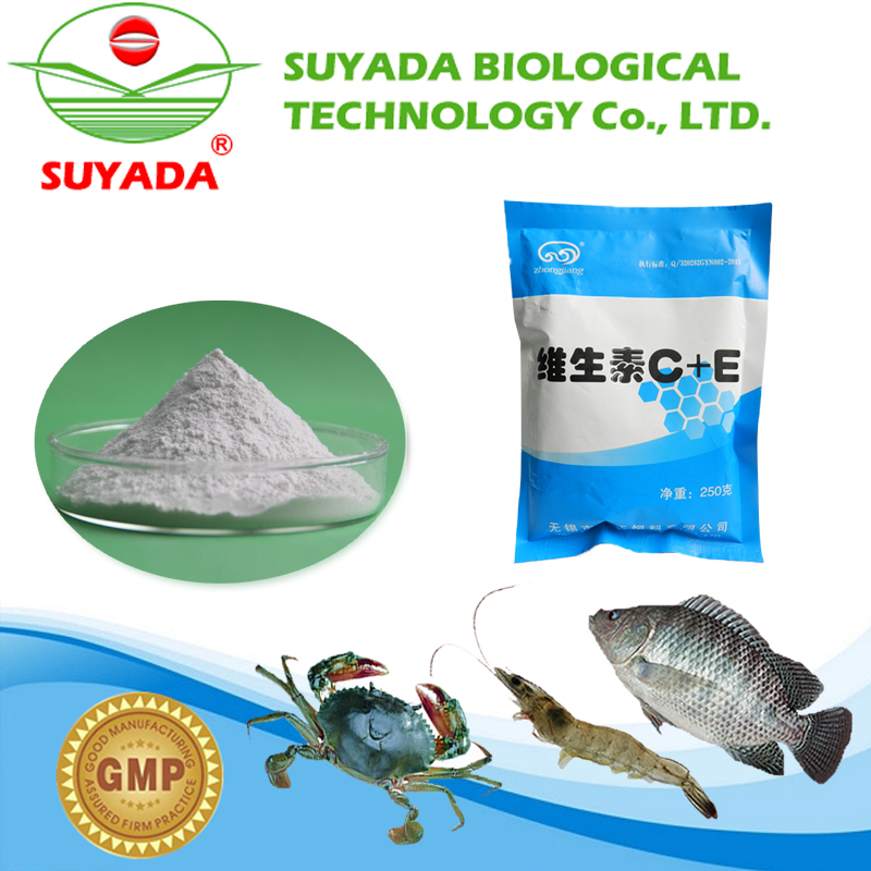 vitamin C and E nutrition powder with the use of fish food