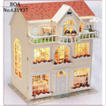 DIY Doll House Dream Fairy Model Building 3D Miniature Handmade Wooden Dollhouse With Furniture and light