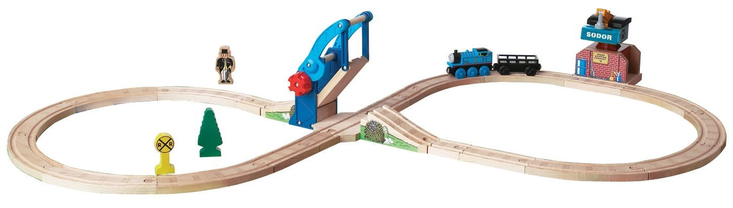 Buy Thomas And Friends Wooden Railway Bridge And Crane Figure 8