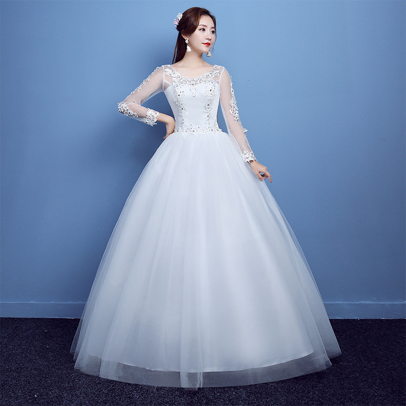 2018 Latest Decent Ladies Long Sleeve Lace Wedding Dresses - Buy ...