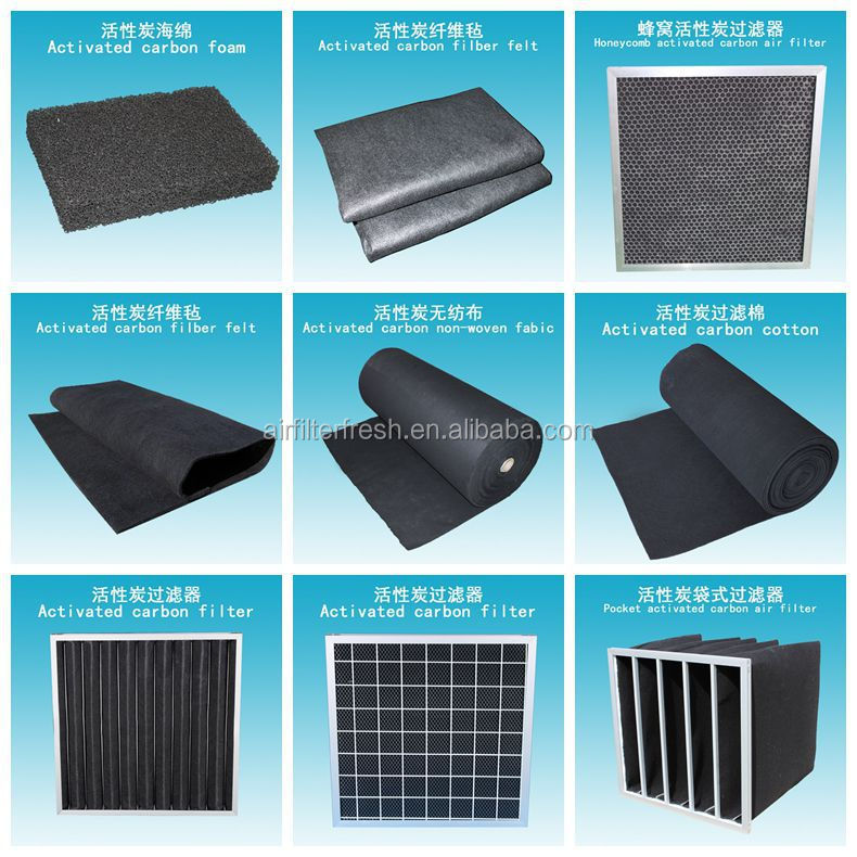 Non-woven Activated Carbon Fiber Carbon Air Filter For Greenhouse ...