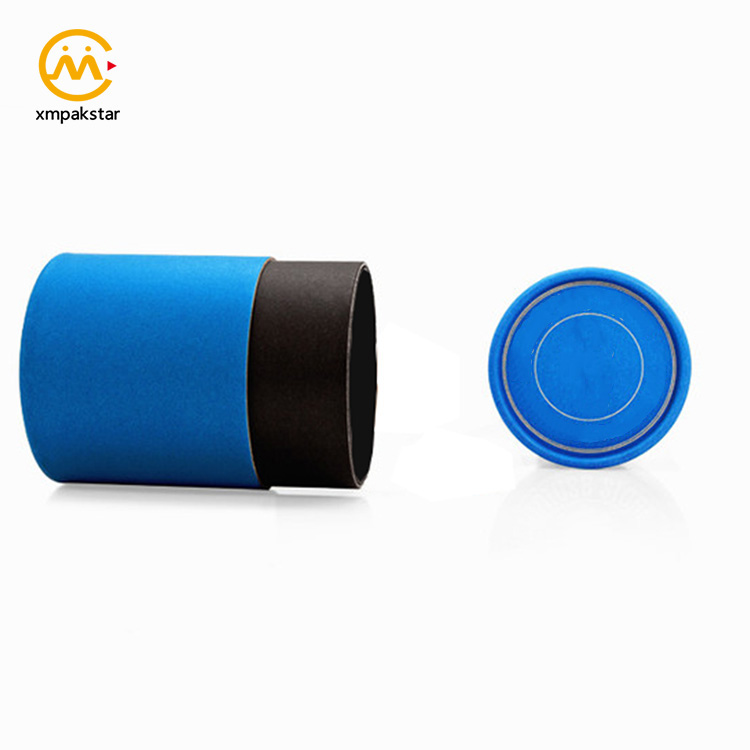 China factory custom empty cardboard round tube cylinder paper t shirts packaging box