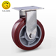 PU stainless steel heavy duty fixed 4 5 6 8 inch medical wheel caster