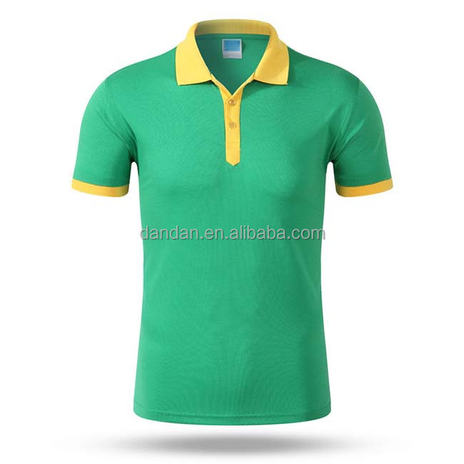 190 gsm t-shirt two tones colors polo shirt
