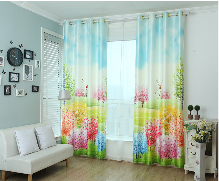 3d Black Out Window Curtain Specification Blind Cheap