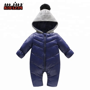 Cotton Padded One Piece Warm Outerwear Children's Overalls Romper Kids Winter Jumpsuit Newborn Baby Snow wear Snowsuit