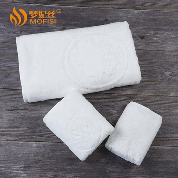 High quality hotel jacquard face washer towel custom
