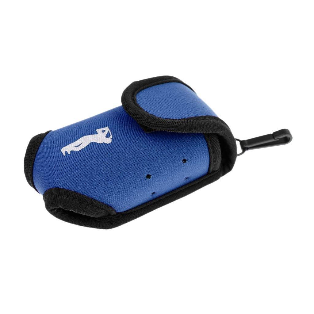 MonkeyJack Mini High Elastic Neoprene Golf Ball Holder Pouch Golf Tees Accossory Storage Bag Small Waist Pack Black/Blue/Hot Pink - Blue