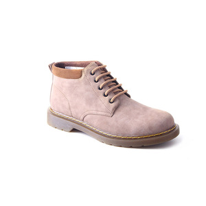 Winter men casual warm lace up gum outsole hiking ankle boots shoes