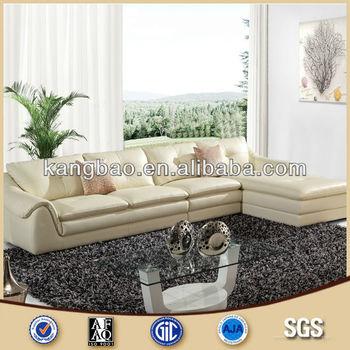 Vv Sofa Modern Style Cream Color Leather Corner Set