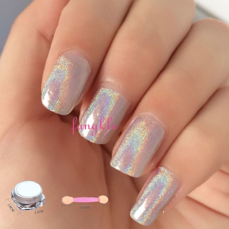2016 hotselling nail art decoration powder silver golden mirror chrome nail power pigment