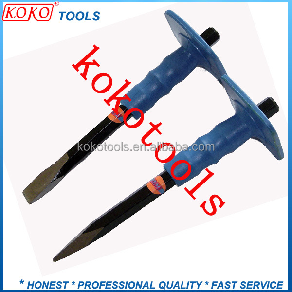 professional flat and sharp head hexagonal metal steel masonry tools cold stone carving chisel