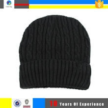 Free Pattern Polyester Beanie Knitted Hat Winter Cap
