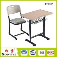luxurious high quality middle school student desk and chair set for sale