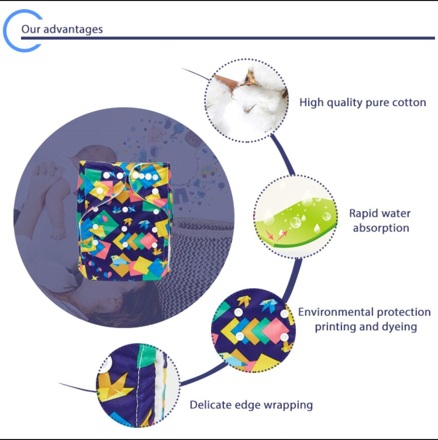 Hot Sale Natural Microfleece Material  Cloth Diaper Insert High Quality Reusable Cloth Diaper Insert