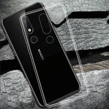 7b155230cad Para Nokia X6, cristalino TPU suave Flexible delgada teléfonos móviles