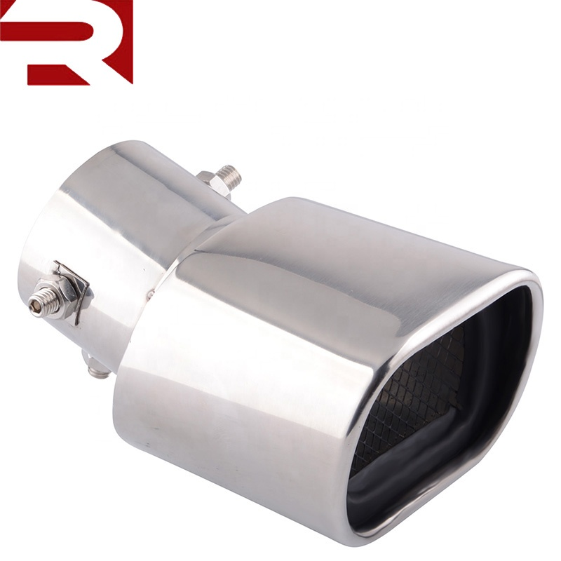 High Quality Dual Inlet T304 Stainless Steel Exhaust Muffler Tip For Benz GLK300