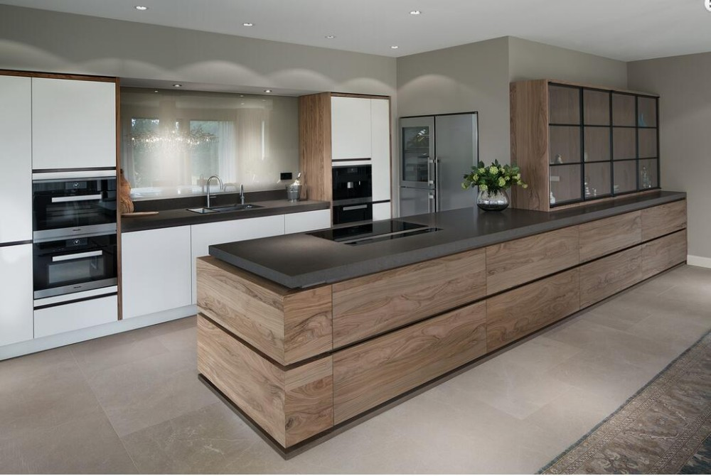 High End Contemporary Wood Veneer Kitchen Furniture Design 2019 Furniture Gabinetes De Cocina Buy Contemporary Wood Veneer Kitchen Cabinets Kitchen Furniture Wood Veneer Kitchen Product On Alibaba Com