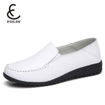 ea76646ef416 new design lady fashion rubber shoes ladies genuine leather rubber shoe  flat loafer soft rubber shoes
