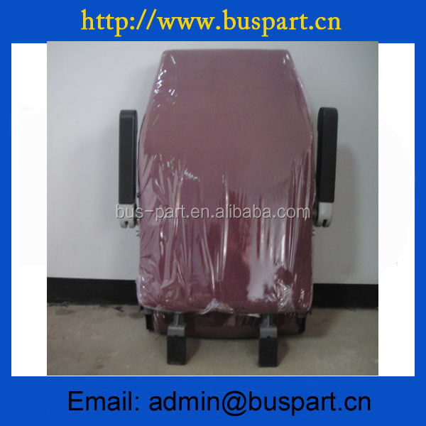 High class Red color bus guide seat, Auto Chair for Yutong bus