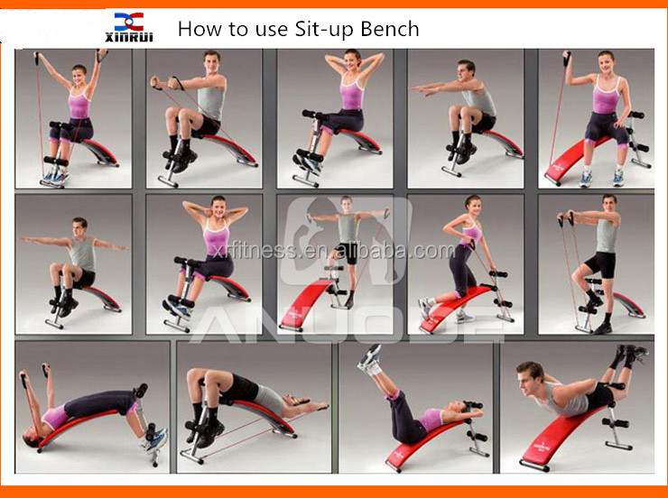 Awesome Abs Bench Workout Part - 11: Multi Adjustable Ab Crunch Sit-up Bench For Sale