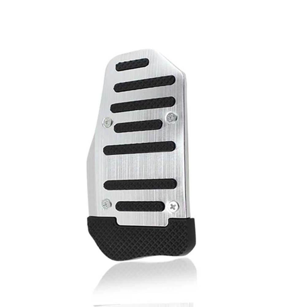 Gogoforward Car Non-Slip Pedal Manual Car Brake Clutch Accelerator Foot Treadle Red (Silver)