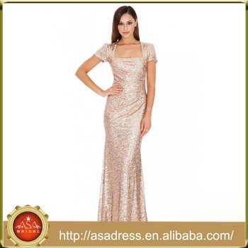 Bd82 New Fashion Elegant Short Sleeve Lady Evening Gowns Sequined A