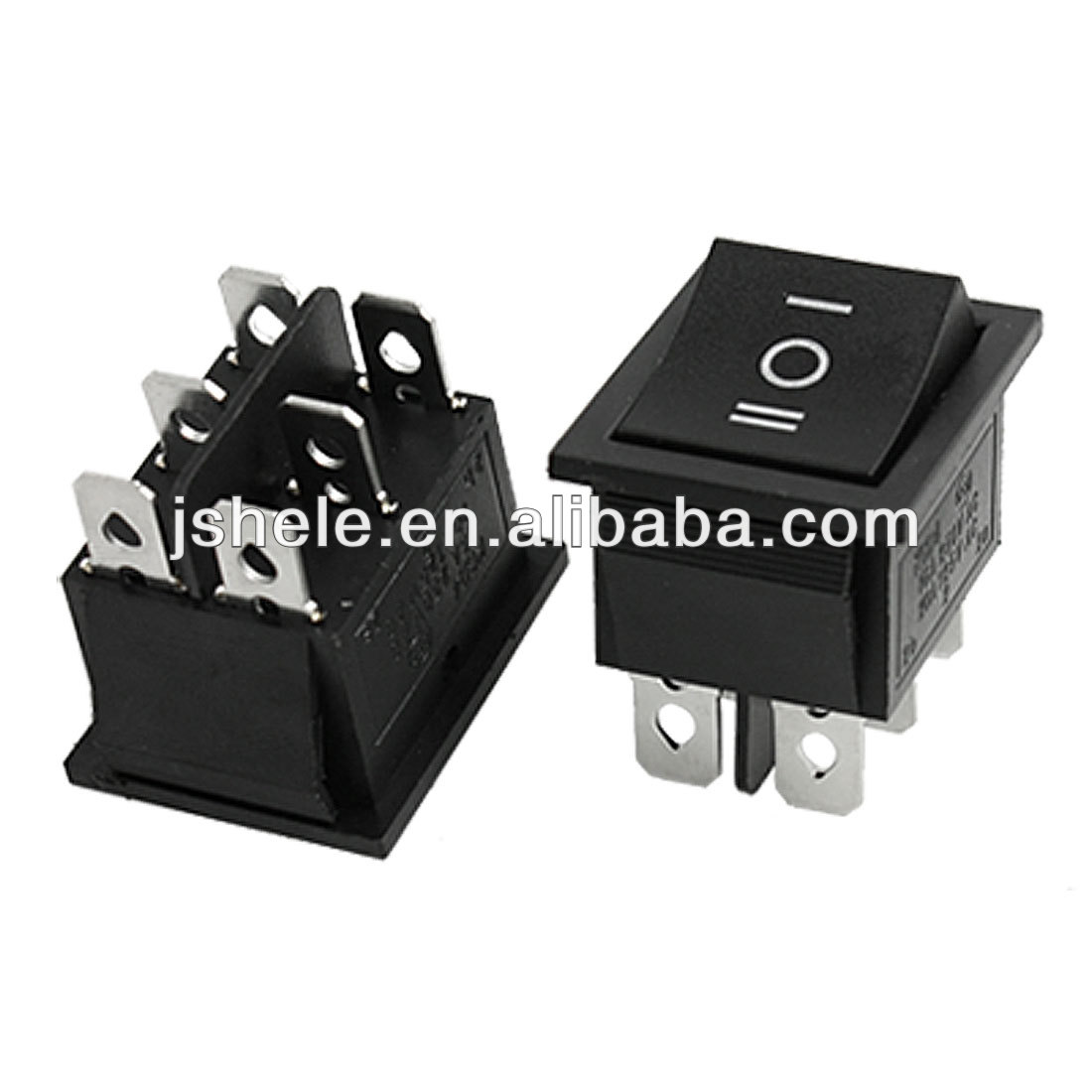 6-Pin 6A 125VAC DPST Rocker Switch On-On  Panel Mount Snap-In
