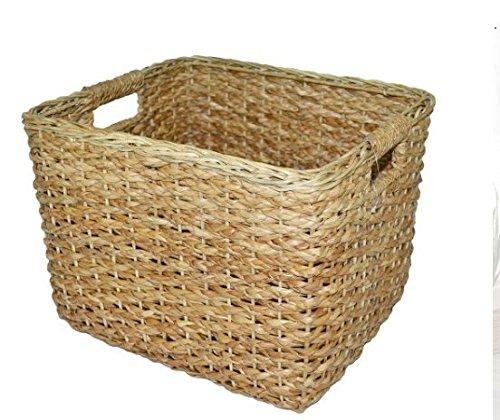 Seagrass Rectangular Wicker Basket - Large Baskets for storage Wicker basket Shelf baskets - Threshold