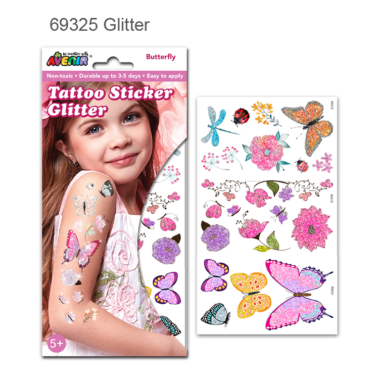 Anak-anak Stiker Tato Sementara Tubuh Glitter Tattoo/temporary body tattoo sticker