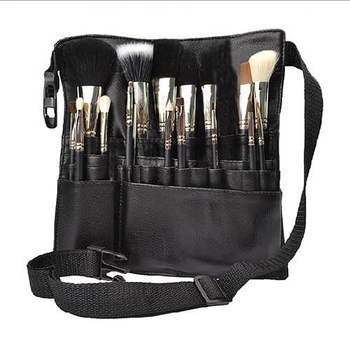 Multi Compartment Makeup Brush Roll Bag Personalized Belt Waist Small Packaging