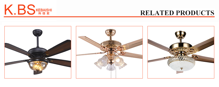 52inch National Style Dining Room Decorative Wood Blades Ceiling Fan With Light