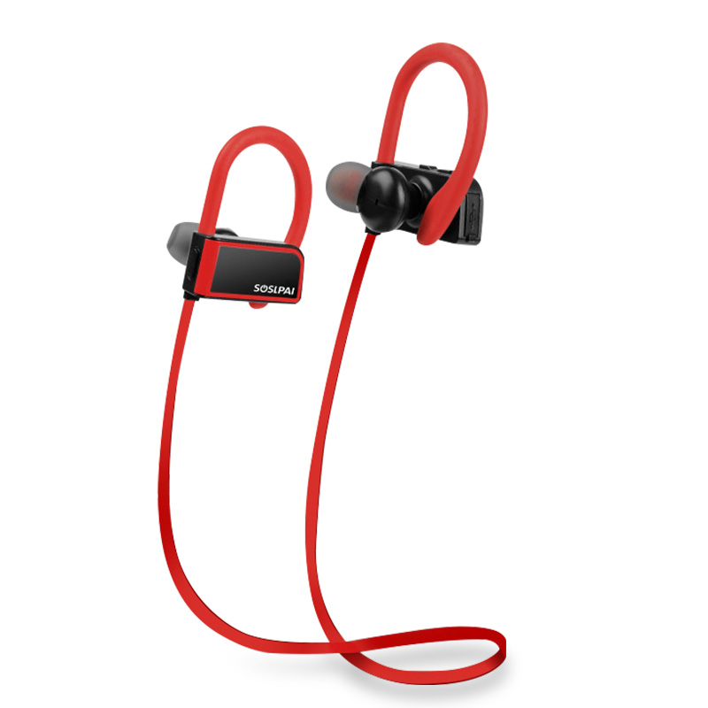 New arrived sport stereo earhook earphone comfortable wearing wireless earphone with mic
