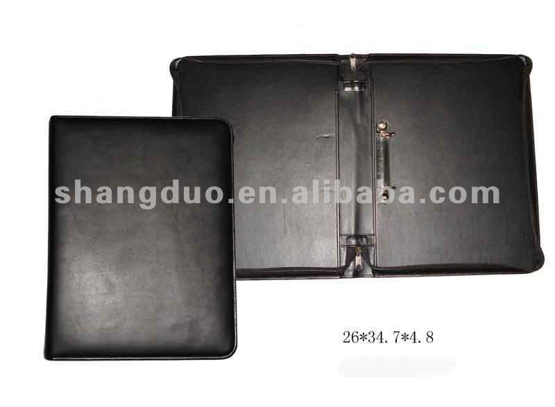 Leather Zipper Port folio A4 Size
