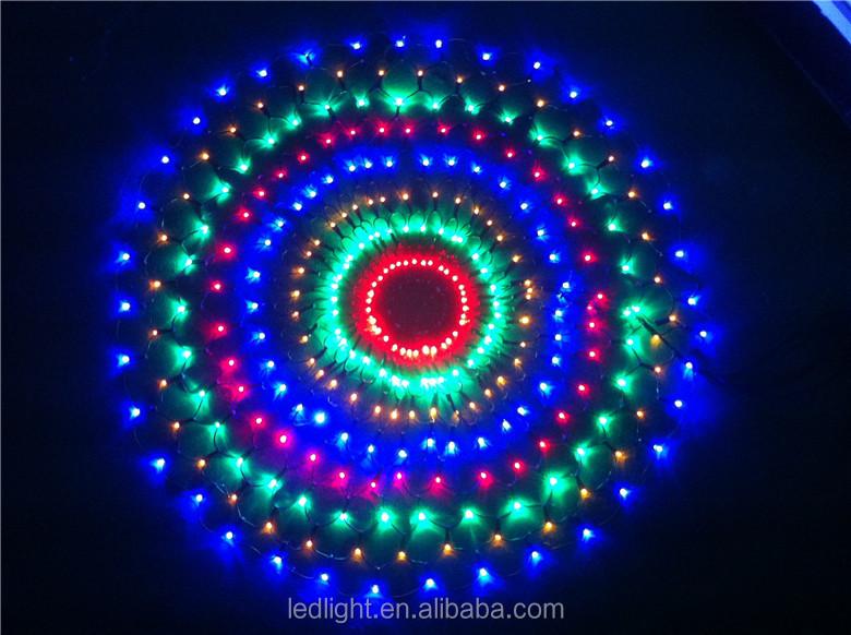 Round Circle Multi Color Led Net Lights Led Christmas Holiday ...