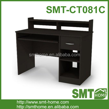 Diy Melamine Black Furniture Computer Study Desk Table
