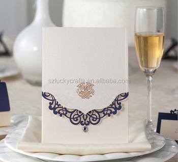 Customize White Handmade Damask Indian Wedding Invitation Card New