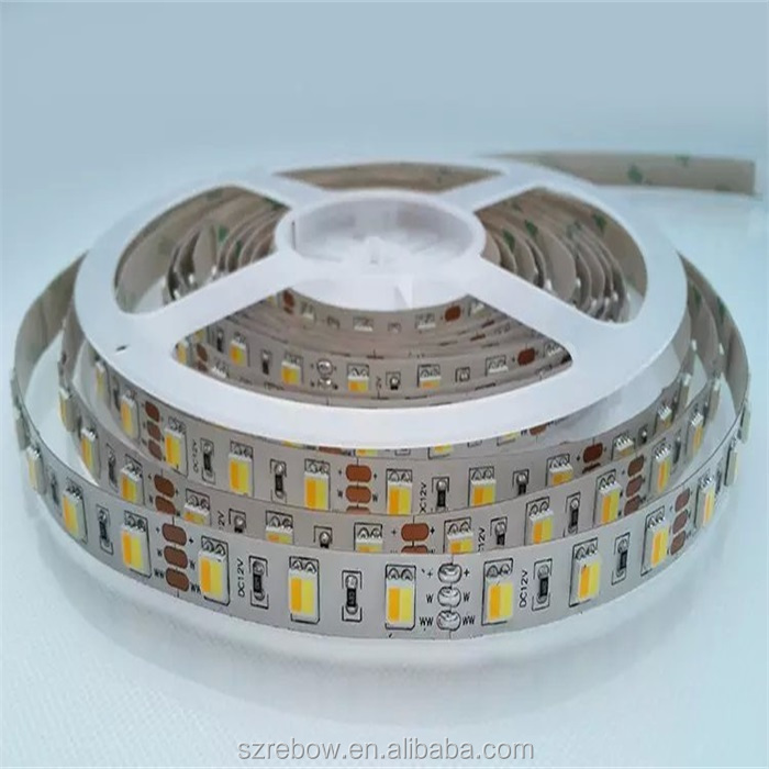 alibaba best sellers CCT 5050 double row 120leds/m DC12V/24V double color led lighting led strip