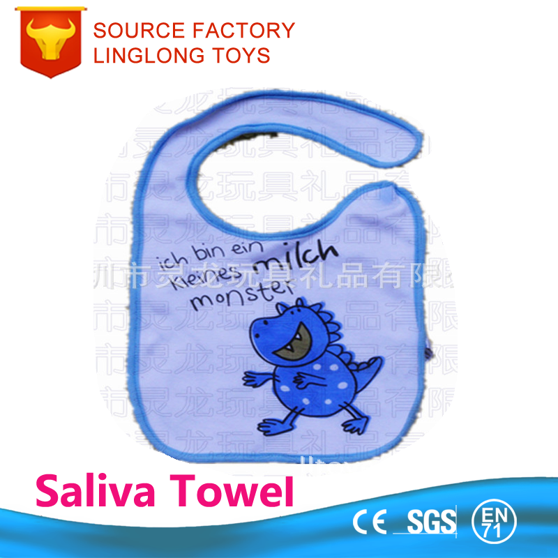 Infant's clothing Cotton Dark Button Feed Dinosaurs Saliva Towel