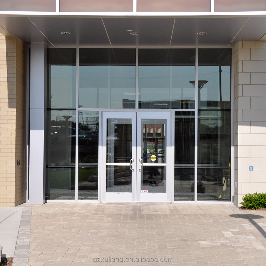 Storefront Windows And Doors as2208 commercial tempered glass aluminum storefront door