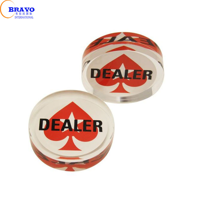 Nieuwe 3 inch Pokerstars Drukken Poker Kaarten Guard Acryl Poker Dealer Button Chip