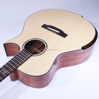 hot sale particular design China made solid wood folk guitar 41'' AAA grade spruce body material mahogany back