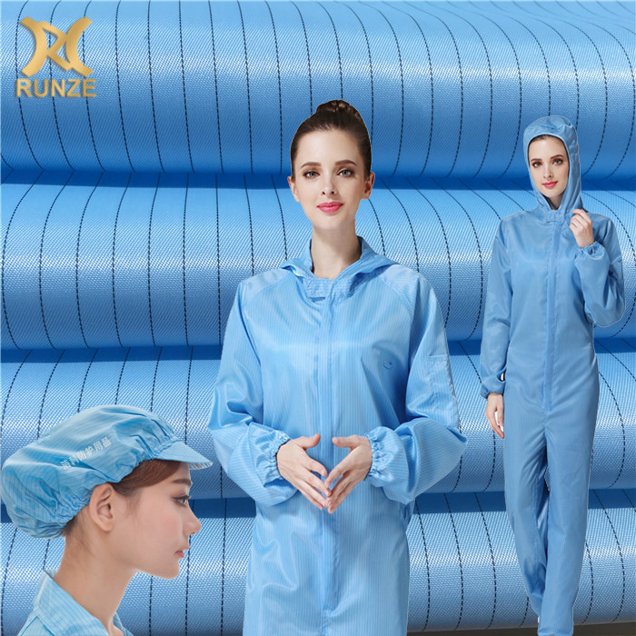 100% Polyester Dust prevention polyester antistatic fabric