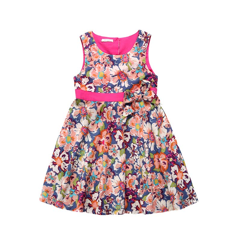 Fashion sleeveless girls party dresses