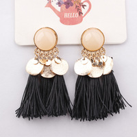 Bohemian vintage long drop tassel jewelry earring 2018 fashion earring designs new model vintage drop earrings