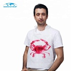 Disposable printed Poly Crab Bib,lobster bib, seafood restaurant bib