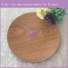 made in china hot wooden decorative round vibration dinner plates for restaurant