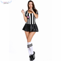 Referee female suit top skirt stage perform cosplay